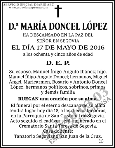 María Doncel López